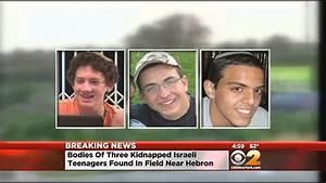 Missing Israeli Teenagers Found Dead - YouTube