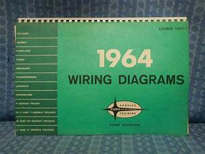 1964 Ford Lincoln Mercury Truck Original Oem Wiring Diagrams Manual Thunderbird  Ford
