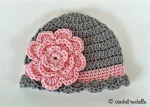 Pretty Crochet Baby Beanie Hat Pattern