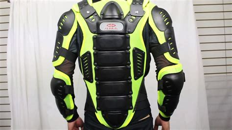 Perrini Green Ce Approved Full Body Armor Motorcycle