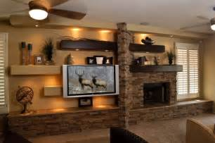 Hanging A Tv On Brick Fireplace by Media Wall 2 Contemporary Family Room Phoenix By