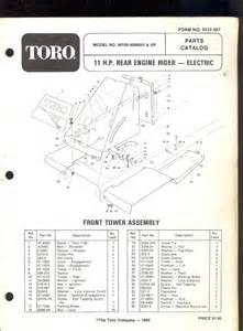 Toro Lawn Mower Parts Catalog
