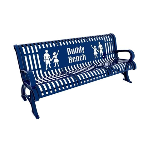Buddy Bench by 6 Ft Blue Premium Buddy Bench 460 332 0003 The