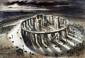 Reconstruction drawing of Stonehenge as it might have ...