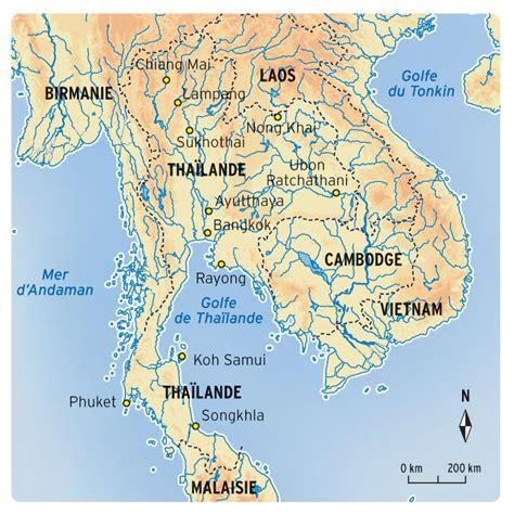 Thailande Dans La Carte Du Monde by Carte Du Monde Thalande Du Sud 187 Vacances Arts Guides