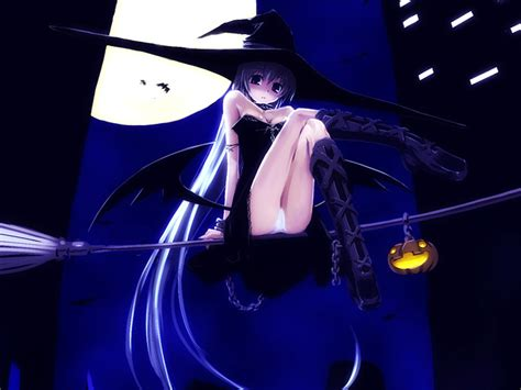 Anime Girl Witch Wallpaper Halloween Witch Wallpaper Wallpapersafari