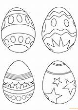 Easter Coloring Egg Eggs Pages Simple Printable Colouring Ostereier Paques Drawing Supercoloring Coloriage Imprimer Line Easy Ausmalbilder Dessin Oeuf Sheets sketch template
