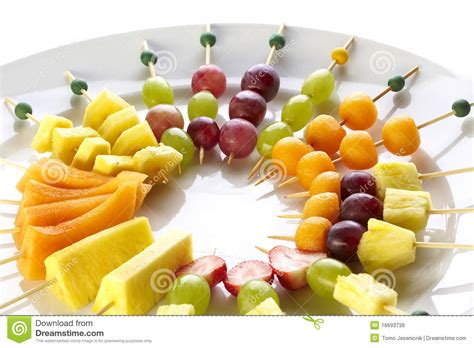 canapes fruit different sort of fruit canape stock image image of food