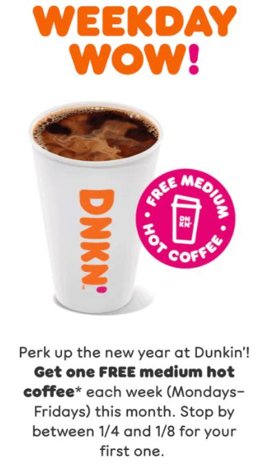 Browse our coffee recipes to learn how to make a latte, caramel macchiato, iced coffee and more. Targeted Dunkin Donuts: Free Medium Coffee Every Week - Money Mondays