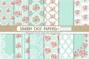 Was Ist Shabby Chic : shabby chic digital papers graphic patterns creative market ~ Orissabook.com Haus und Dekorationen