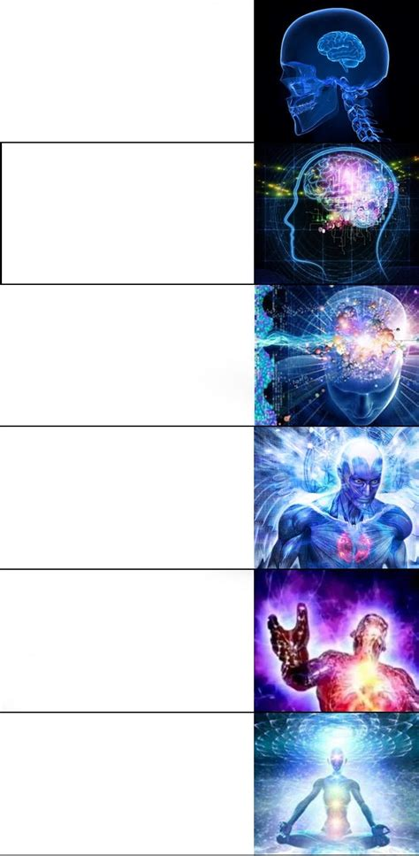 expanding brain template expanding brain meme 6 steps blank template imgflip