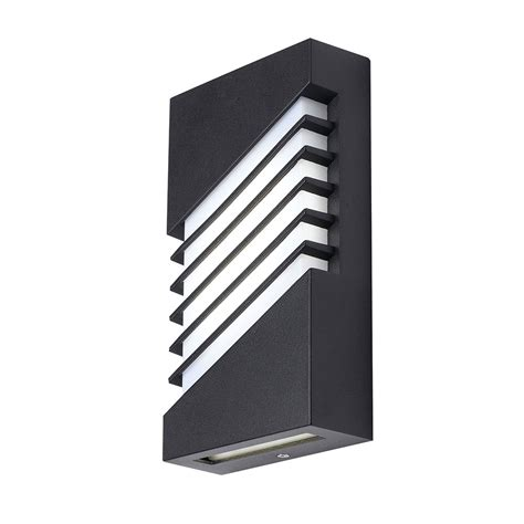 atrium 6w led exteror wall light black finish cool