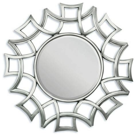 uttermost brayden arch mirror silver finish geometric design hanging wall mirror