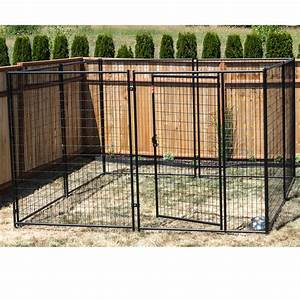 lucky dogtm modular kennel welded wire kit 639h x 1039w x With wire fence dog kennel