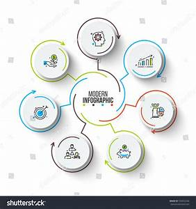 Vector Circle Infographic Template Cycle Diagram Stock Vector 534352246