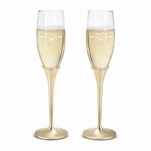 Flute A Champagne : engraved princess gold champagne flutes set ~ Teatrodelosmanantiales.com Idées de Décoration