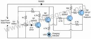 transistor based solar battery charger with auto cut off With led light simple circuit diagram fully stocked led lighting store