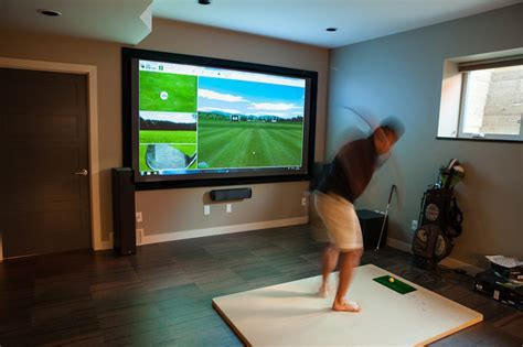 Golf Simulator   Contemporary   Home Theater   Edmonton