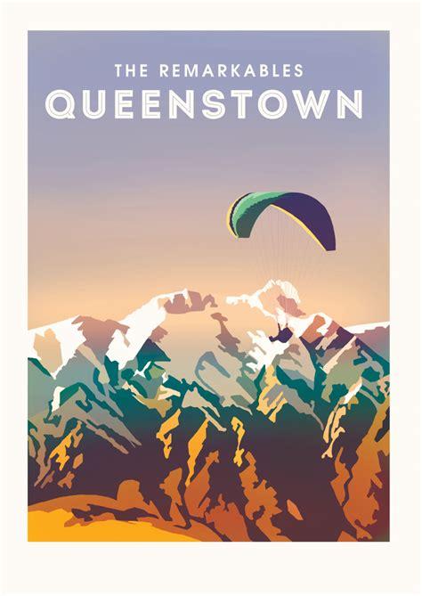 Vintage Queenstown Poster - Lisa Nicole