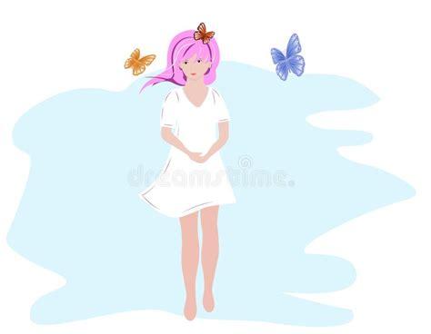 menina borboletas ilustra 231 245 es vetores e clipart de stock 2 234 stock illustrations