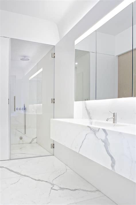 floating marble vanity modern bathroom workshop