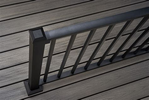 trex transcend decking island mist decking railing options styles trex
