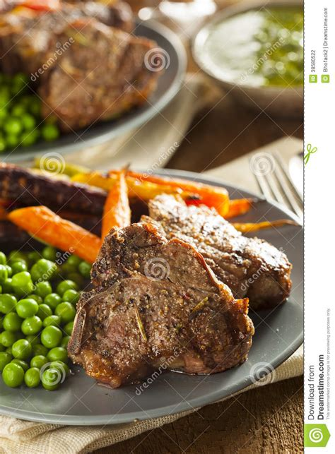 Cooked Lamb Chops Royaltyfree Stock Photography