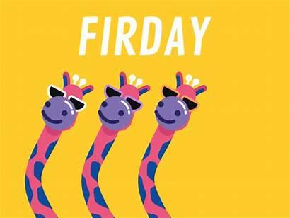 Friday Happy Giraffe Dance Animated Weekend Dribbble