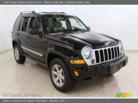 black jeep liberty interior black clearcoat 2007 jeep liberty limited 4x4 medium