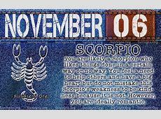November 6 Zodiac Horoscope Birthday Personality