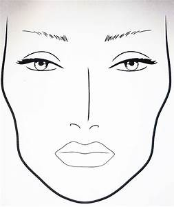 Makeup Diagram Face Blank Female Faces Large Notebook