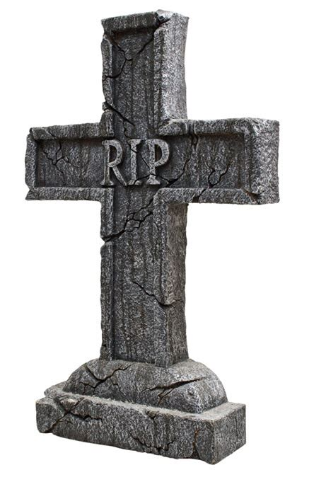 rip cross tombstone decorations props