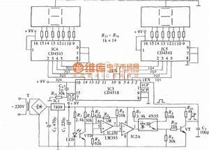 Digital Photoelectric Counter Circuit Diagram