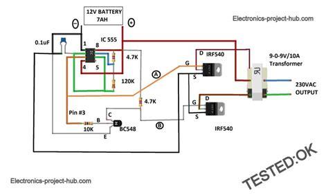 Inverter Circuit Diagram Diy Electronics Projects