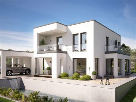 Einfamilienhaus Bauhaus Hommage 134 by Fertighaus Stadtvilla Evolution 134 V8 Bien Zenker