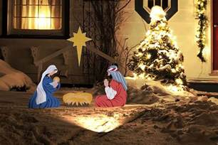 nativity outdoor lighted outdoor lighted