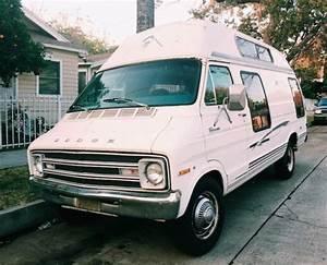 1977 Dodge Tradesman B300 Maxi Van With Hi Top Camper Shell