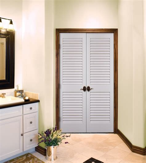 primed white louvered doors  homestory doors homestory