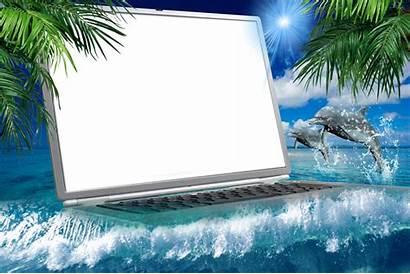 Frames Sea Photoshop Cadre Bottomless Laptop Season