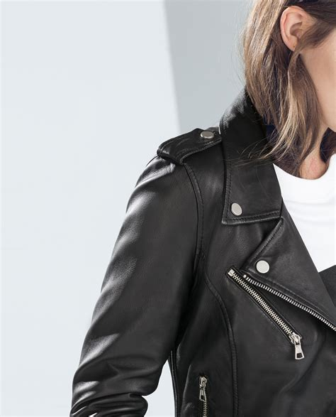 LEATHER BIKER JACKET - Collection - TRF - COLLECTION SS15 | ZARA United States
