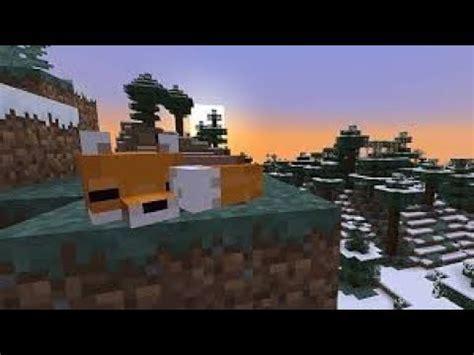 como domesticar   zorro en minecraft  youtube