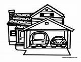 Coloring Pages Garage Cars Teaching Fun Building Houses Buildings Sheets Easter Colormegood sketch template