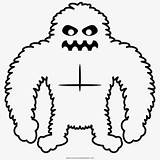 Yeti Coloring Drawing Lone Line Netclipart sketch template
