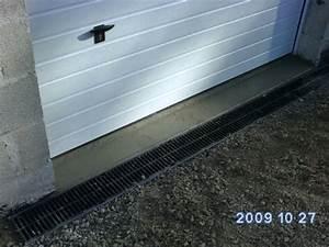 seuil de porte de garage refait avec pose du caniveau With comment poser un seuil de porte
