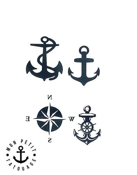 Tatouages Ancre Marine (4 Motifs)  Mon Petit Tatouage