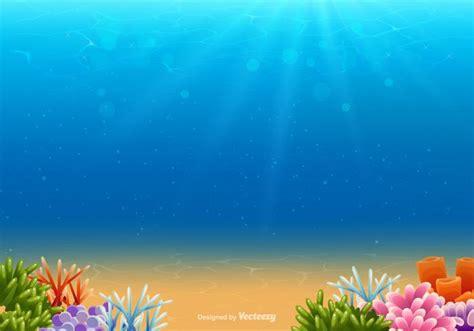 Underwater Clipart Underwater Vector Background Free Vector