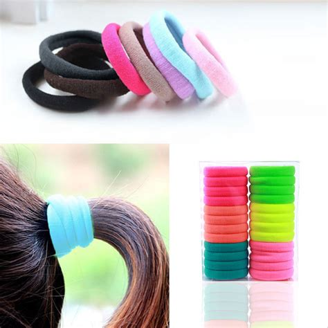 hair ponytail bands elastic holder band hairband rope selling tie accessories ties holders pcs quality baby children ring 10pcs