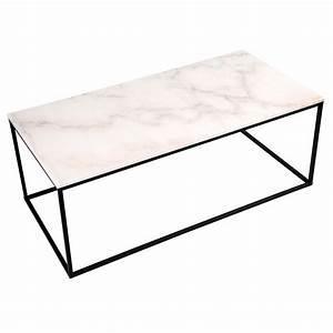 Table Marbre Rectangulaire : table basse rectangulaire dagmar marbre blanche commandez les tables basses rectangulaires ~ Teatrodelosmanantiales.com Idées de Décoration