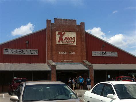 bbq texas market thru ate way kruez lockhart came then place
