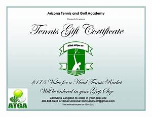 arizona tennis and golf academy current tennis specials With tennis gift certificate template